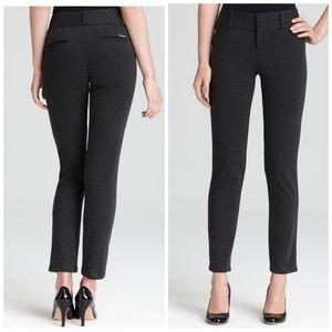 Charcoal Grey Michael Kors Straight Ponte Pants